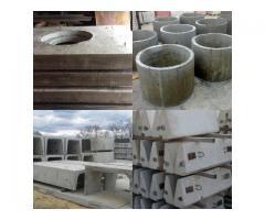 ЖБИ кольца КС, лотки теплотрасс ЛК в Новом Уренгое, плиты ПТ для лотков, фундаменты Ф1.5х1.5-2, борд