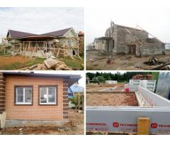 Строительство деревянных, каменных, каркасных домов под ключ